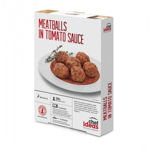 Chicken Meatballs with Tomato