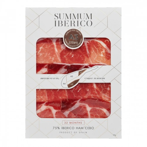 32 Months Iberico Ham Cebo, A3 Cut